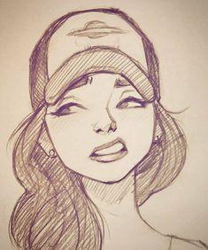 Art Drawings Sketches, Cool Drawings, Pencil Drawings, Sketch Drawing, Doodle Sketch, Drawing Ideas, Drawing Tips, Drawing Faces, Sketching