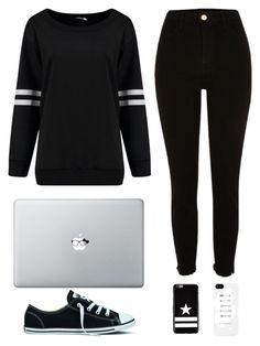 Casual - Black & White by chameleonofdoom on Polyvore featuring River Island, Converse, Givenchy, casual, monochrome, blackandwhite and casualoutfit