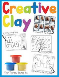 Creative Clay Activities UPDATED - includes loads of play dough activities to help children strengthen the hands and fingers while learning! Playdough Activities, Craft Activities, Motor Activities, Alphabet Activities, Clay Activity, Pediatric Occupational Therapy, Pediatric Ot, Play Clay, Letter Formation