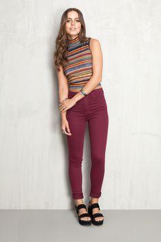 calça skinny color   Dress to