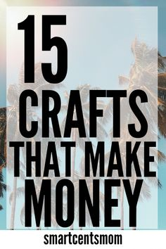 Easy DIY Crafts that MAKE MONEY! Make extra money selling these easy crafts that pay BIG on Etsy. If you're looking for the hottest crafts selling on Etsy, then this list is going to give you some great ideas for your business at home! Money Making Crafts, Easy Crafts To Make, How To Make Money, Making Money From Home, Christmas Crafts To Sell Make Money, Crafts To Make And Sell Easy, Hobbies That Make Money, Craft Making, Simple Crafts