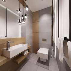 Small Basement Bathroom, Small Toilet Room, Bathroom Layout, Bathroom Interior Design, Modern Interior Design, Bathroom Ideas, Contemporary Bathrooms, Modern Bathroom, Wood Bathtub