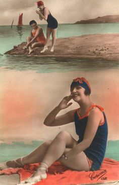 seaside postcard 1920's