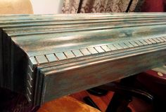 Vintage style Turquoise Mantle Shelf by AntiquesAmoreDesigns, $128.00