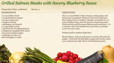 Grilled Salmon Steaks with Savory Blueberry Sauce at http://www.miedemaproduce.com/