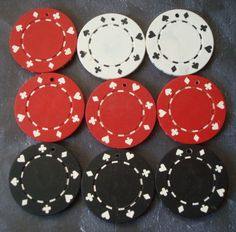 Drilled Poker Chip Charms