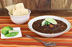 Black Bean Soup and more clean eating soup recipes on MyNaturalFamily.com #cleaneating #soup #recipe