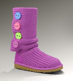 UGG. Colorful buttons.