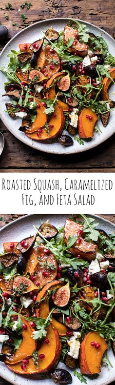 Lower Excess Fat Rooster Recipes That Basically Prime Roasted Squash, Caramelized Fig, And Feta Salad Hbharvest Fig Recipes, Salad Recipes, Vegetarian Recipes, Cooking Recipes, Healthy Recipes, Potato Recipes, Dinner Recipes, Good Food, Yummy Food