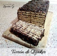 Turrón de Quaker Crackers, Cheesecake, Food And Drink, Sweets, Bread, Dishes, Desserts, Recipes, Chocolates
