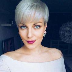 16 Gray Short Hairstyles and Haircuts