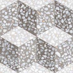 Carreaux de grès cérame, imitation porphyre ou terrazzo, motifs style carreaux de ciment, Comptoir du cérame. http://www.decoatouslesetages.fr/2017/04/07/le-luxe-venitien-pour-presque-rien-home-challenge-avril-2017/
