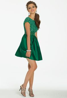 ladies Sheath/Column V-neck Natural Draped Split Front Homecoming Dress - Storedress.com