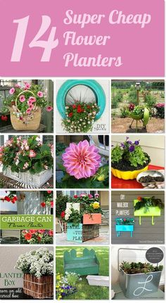 Hometalk | 15 super cheap flower planters