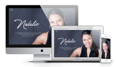 Natalie Pauls is an One Page Business Card style website designed… Portfolio Web Design, Blog Design, Wireframe Design, First Page, Business Website, Design Projects, Branding, Style, Swag