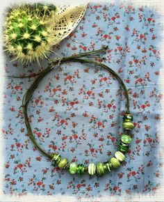 jewelry, bijou, necklace. Колье. Фурнитура - шнур вощенный, бусины - Pandora style (стекло).