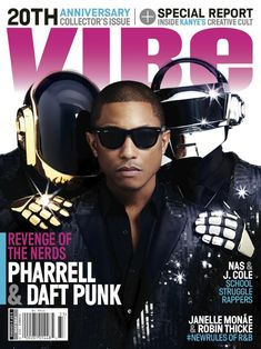 Pharrell & Daft Punk Cover VIBE's 20th Anniversary Issue