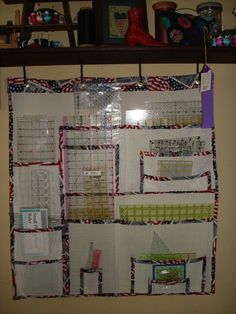 Thanks to members of this board, I found the pattern for the pet screen hanging ruler organizer. It was a bit of a struggle to sew on my Featherweight,