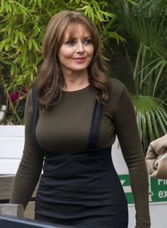 Carol Vorderman Photos - Carol Vorderman leaves the ITV Studios in London on December - Carol Vorderman Leaves the ITV Studios Thigh High Boots Heels, Hot High Heels, Beautiful Old Woman, Gorgeous Women, Pretty Woman, Carol Vordeman, Sexy Corset, Tv Presenters, Celebs