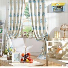 Novelty Neoclassical Blue Energy saving Curtains  #kids #curtains #homedecor #nursery #custommade Cheap Curtains, Kids Curtains, Blue Curtains, Neoclassical, Save Energy, Cotton Linen, Custom Made, Nursery, Contemporary
