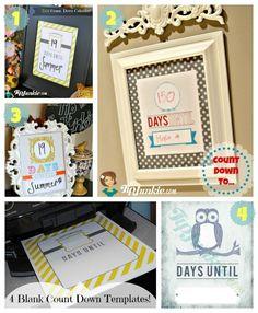 Printables   Countdown Calendar Teacher And Free