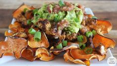Loaded Paleo Nachos  #LexisCleanKitchen