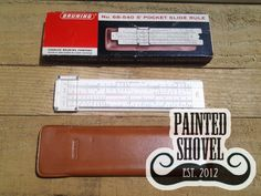 Vintage Bruning slide rule for sale at Painted Shovel in Avondale, AL.