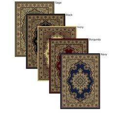 Five color choices for this elegantly stated oriental rug with a traditional floral design. Refined and elegant, this rug adds that touch to your home or office with great pattern and nice pile height that only  Caroline Medale Omerlin can provide.