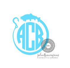 NEW Monogrammed Fishing Decal by PalmettoMonograms on Etsy Silhouette Fonts, Silhouette Cameo Projects, Silhouette Machine, Cricut Vinyl, Vinyl Art, Vinyl Decals, Vinyl Crafts, Vinyl Projects, Fishing Hole