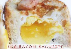 Egg Bacon Baguette Breakfast Recipe-
