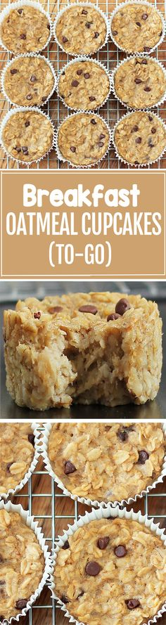 Cook just once, and you get breakfast for an entire month with these healthy bak. Cook just once, and you get breakfast for an entire month with these healthy baked oatmeal cupcakes Breakfast And Brunch, Breakfast On The Go, Breakfast Dishes, Breakfast Recipes, Breakfast Cupcakes, Breakfast Healthy, Breakfast Casserole, Breakfast Fruit, Dinner Recipes