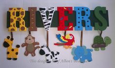 4 LETTER ANY THEMECustom Name Sign by AlbonsBoutique on Etsy, $52.00.........  think i wanna try and do this for my boys.