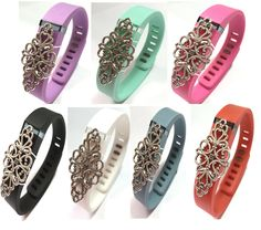Fashion Wristband for Fitbit Flex with Clasp Wireless Activity-fitness Band Bling Accessory- Dress Outfit. replacement wristband(s)+ detachable Bling Accessory (s). All bling(s) are easily interchange able among different color bands. Dress your Fitbit? Flex band with fashion bling. Easy to slip on and off you band. simplely switch the detachable bling accessory to bands of other color. unlimited combination. Used for sports & sleep band. fashion gift for her for him. Having one clip…