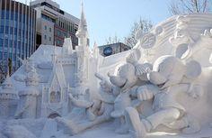 A wonderland of snow in Sapporo