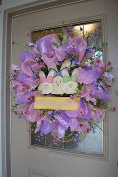 Easter Mesh Wreath Tutorial 2012