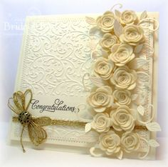 IC326 Cream Roses Wedding by bfinlay - Cards and Paper Crafts at Splitcoaststampers