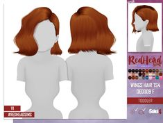 WINGS HAIR TS4 OE0309 F TODDLER VERSION 1 at REDHEADSIMS – Coupure Electrique • Sims 4 Updates