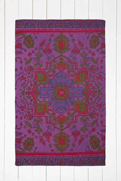 Overdyed 4x6 Rug in Purple