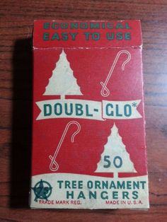 Vintage Christmas box of Doubl Glo Ornament Galvanized Apx 20 pcs. Nice Box