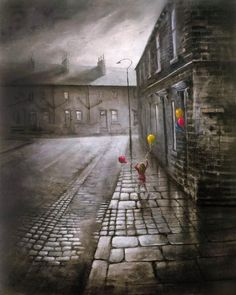 Bob Barker is a UK based artist, born and bred in Yorkshire. It's taken Bob Barker twenty years for his long time love of painting to evolve from a hobby to the point where interest in his work has taken on worldwide awareness. Pictures To Paint, Cool Pictures, Nostalgic Art, Urban Landscape, Dark Art, Artsy Fartsy, Color Splash, Color Pop, Yorkshire