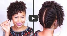4 Christmas Party Styles for Short Natural Hair KINKY,CURLY,RELAXED,EXTENSIONS BOARD