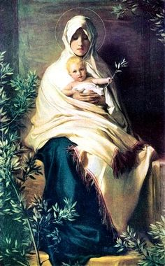 Nicolò Barabino (1831-1891)  — Madonna of the Olive Branch  (434x700)