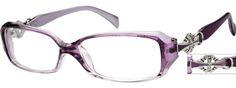 Women's Purple 2569 Flexible Plastic Full-Rim Frame   Zenni Optical Glasses-K5kv1BaH