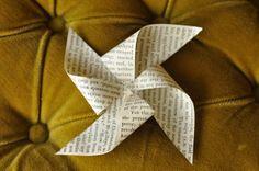 pinwheel garland via everyday lovely