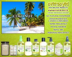 Coconut Bay (Compare To Yankee Candle®) Product Collection - The intoxicating scent of wind-swept palms and coconut milk. #OverSoyed #CoconutBay #YankeeCandle #Candles #HomeFragrance #BathandBody #Beauty