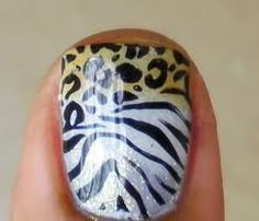 Flaunting animal themed nail art shows your wild side and it also depicts your love towards the animals or your pets. Check out these colorful animal print nail art! Get Nails, Love Nails, How To Do Nails, Pretty Nails, Hair And Nails, Manicure Y Pedicure, Mani Pedi, Zebra Nails, Leopard Nails