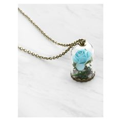 Glass Flower Pendant Luminous Chain Necklace ($3.99) ❤ liked on Polyvore featuring jewelry, necklaces, flower jewelry, glass pendants, pendant jewelry, glass pendant jewelry and glass necklace