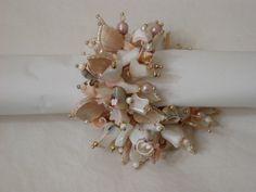 bracelet: ivory, bone &mother-of-pearl