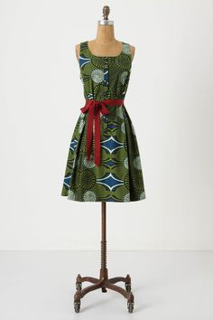 Green dress red sash: reminds me of fabric from when I was in Ghana