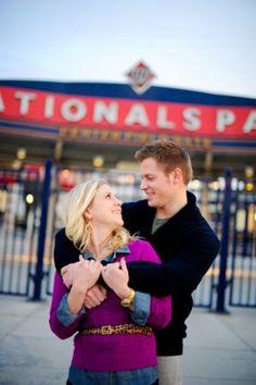 Nationals Park engagement photo #wedding #weddinginvitations #dcwedding